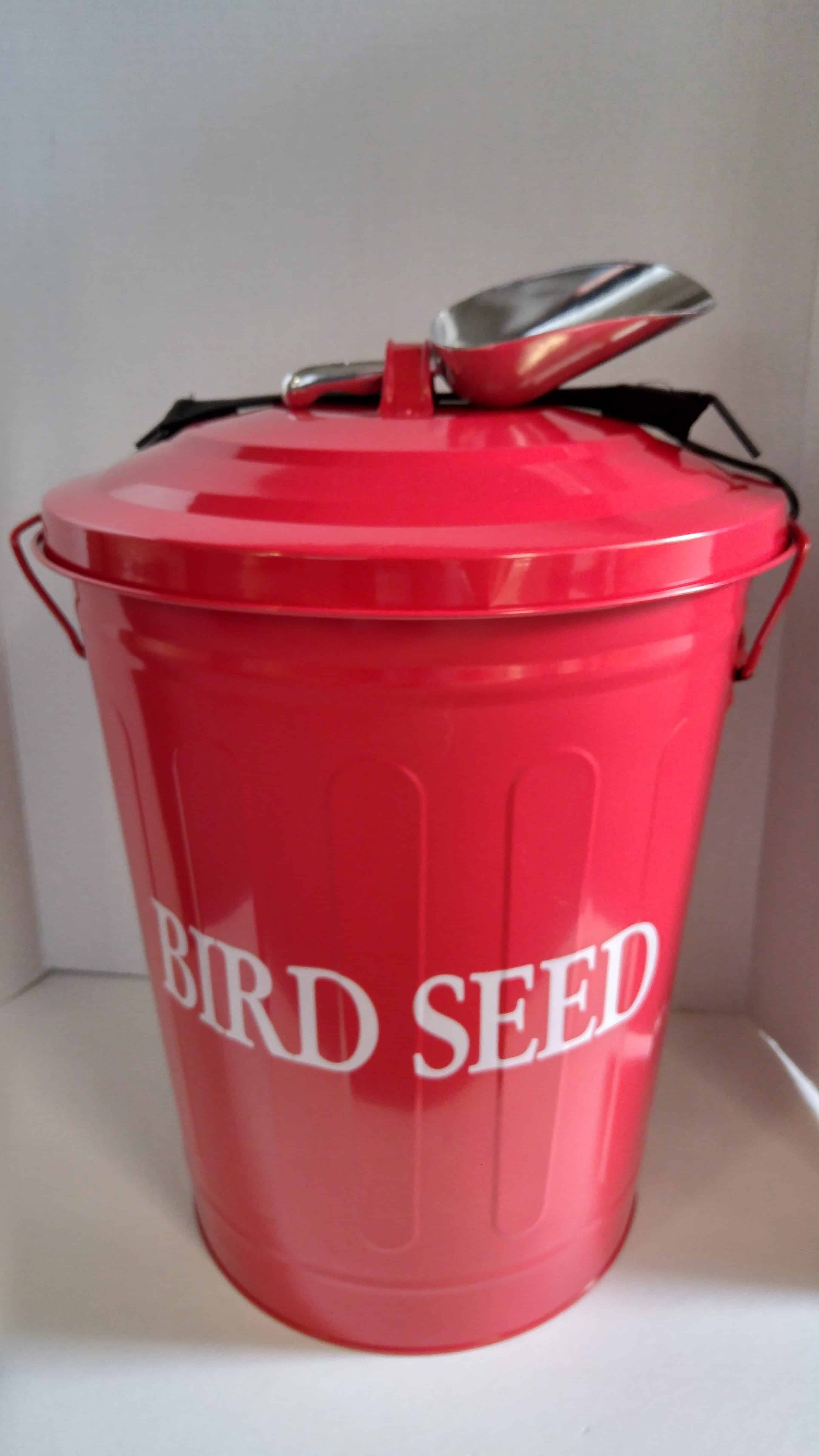 HBT-001RS Metal Seed Container in RED